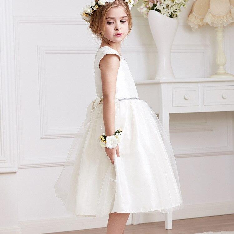 2017 Summer White Princess Flower Girls Dresses Kids Wedding Party Tutu Dress for Girl Children Evening Prom Dress Baby Clothes<br><br>Aliexpress