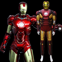 Iron Man muscle Costume Ironman superhero onesies for adult movie costumes for man halloween party cosplay Birthday Gift D-1914