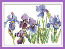 Joy sunday floral style Flourishing printable cross stitch sampler patterns beautiful painting for home ornament