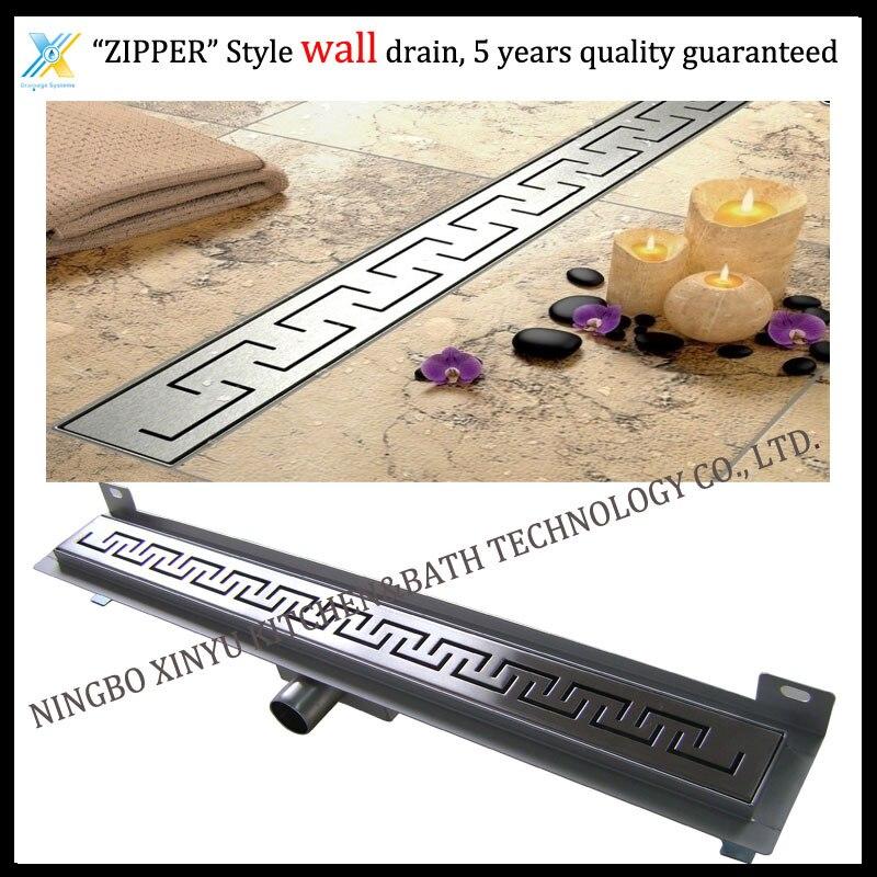 900mm ZIPPER Style Stainless Steel 304 Linear Shower Wall Drain/Horizontal Drain/Shower Floor Waste/Linear Shower Channel<br><br>Aliexpress