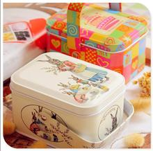 Popular Coins Metal Box Cosmetic Jewelry Storage Case Candy Gift Box Sewing Kit Tin Box