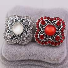 2colors High Quality Big Full Crystal 18mm Snap Button Metal Rhinestone Cat  Eye Charms For Diy Snap Button Jewelry BT070 4d273a26c359
