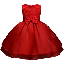 Red Baby Girl Summer Frocks Newborn Bebes Lace Infant Christening Gowns 1 Year Birthday Baby Girl Dress Toddler Baptism Clothes(China)