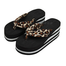 POADISFOO Shoes Woman Shoes Towel Leopard Muffin Bottom Clip Sandals Slippers Sandals And Slippers Sandals .WNH-835