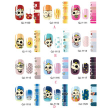 High Quality Design stamping 3D Nail Art Stickers Decals For Nail Tips Decorations Supply Tools(China)