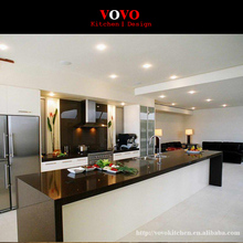 High Quality Modern white and black High Gloss Lacquer Finished Kitchen Furniture(China)