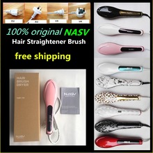 Newest !  Salon used 100% original NASV hair straightener brush with  product certificate