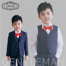 Spiderman Minnie Mouse 2016 Vest+blazer+pants+tie Boutique Clothing Gentleman Style Boys Wedding Suits Long Sleeves Kids Sets(China)