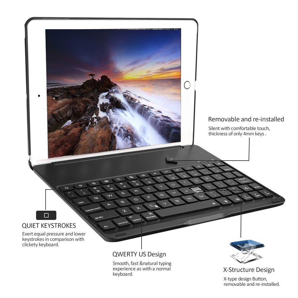 Wireless 3.0 Bluetooth keyboard Black 5