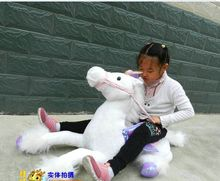 lovely plush horse toy the mascot horse stuffed toy gift toy about 90cm white