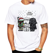 Buy 2018 New Arrivals Boba Cartoon Printed Men t-shirt Short Sleeve Star Wars T Shirt Casual Tops Cool Tee Shirts for $2.89 in AliExpress store