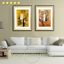 European renaissance picasso abstract oil painting classic modern home decor pictures abstract art wall printing on canvas(China)