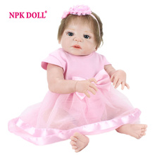 NPKDOLL 55cm Doll Reborn Babies Full Vinyl Toys For Girls Alive Baby Doll For Playhouse Gift(China)