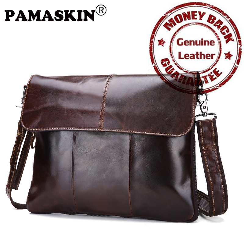 Brand Luxurious Real Leather Practical Men Messenger Bags 2017 Hot Large Fashion Leisure Men Cross-body Bags Male Shoulder Bags<br>