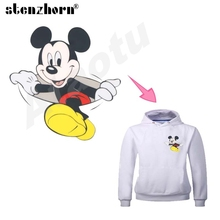iron-on transfers mickey mouse patches Ironing Stickers A Level Baby heat transfers for clothes(China)