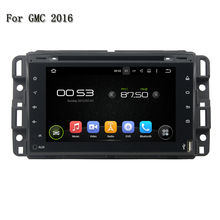 "HD 7"" 1024x600 ROM 16GB RAM 1G Quad Core Android 5.1 Steering Wheel Control Stereo Radio GPS Navi Car DVD Player For GMC 2016"