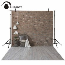 Allenjoy Brick wall background indoor chair wooden floor professional photography background background for photography camera(China)