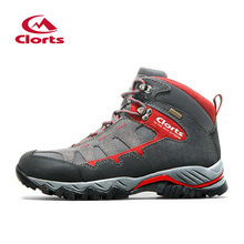 New Clorts Hiking Boots Man Waterproof Shoes Suede Leather Sport Shoes Anti-Slip Men's Winter Shoes Red Mountain Shoes HKM-823D