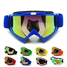 Blue Adult Motorcycle goggles Motocross helmet goggle Bike Cross Country Flexible Glasses color Lens