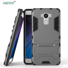 For Xiaomi Redmi 4 pro prime 3D Shockproof Stand case For Xiaomi Redmi 4 pro prime Slim Combo Armor case shell Back cover(China)