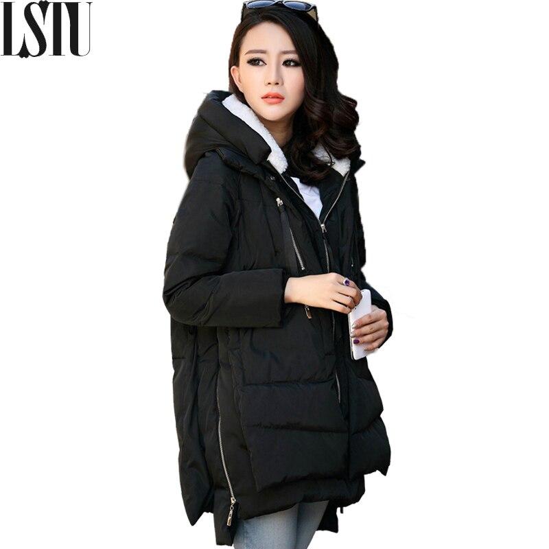 Lstu 2017 Fashion Winter Jackets And Coats Women Parka Thick Wadded Female Womens Outerwear Slim Warm Cotton Parkas Padded CoatsÎäåæäà è àêñåññóàðû<br><br>