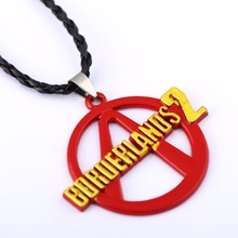 Hot PS3 Game Jewelry PS 3 Borderlands 2 Alloy Red Pendant Necklace Cosplay Collares Mujer Chokers Bijoux Men Women HC11304 - HSIC Store store