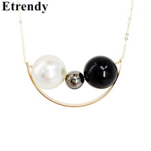 New Fashion Jewelry Simulated Pearl Long Necklace Women Pendants Gift(China)
