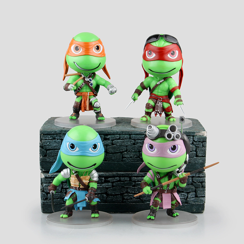WVW 4pcs/Set Anime Hero Fighting Turtle Model PVC Toy Action Figure Decoration For Collection Gift<br>