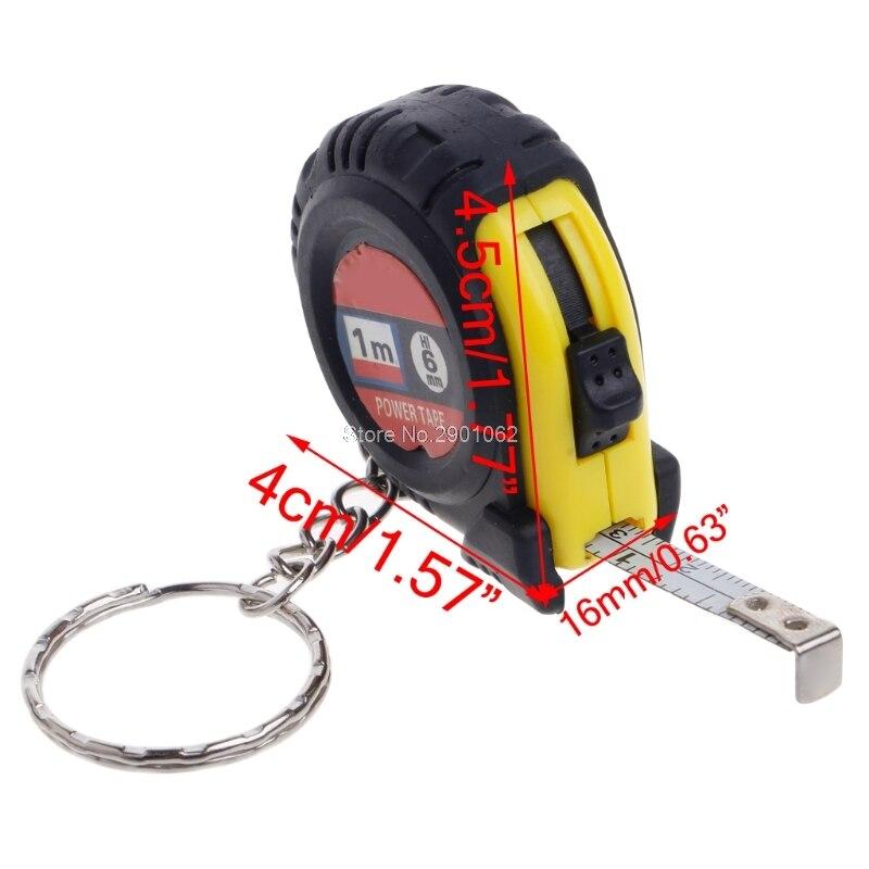 Retractable Ruler Tape Measure Key Chain Mini Pocket Size Metric 1m -B119