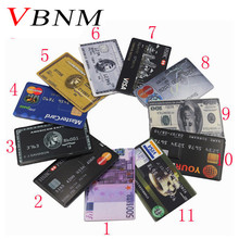 VBNM new waterproof Super Slim Credit Card USB Flash Drive 32GB pen drive 4G 8G 16G bank card model Memory Stick(China)
