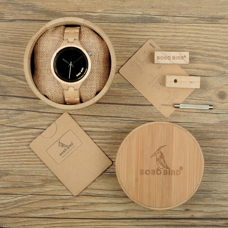 ساعة يد نسائية BOBO BIRD الخشبية الاصلية 13