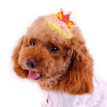 3pcs/lot Dots Lace Hair Clipper For Dogs Crown Pink Yellow Rose Blue Pets Accessories For Cats Animals Yorkshire Poodle Breeds(China)