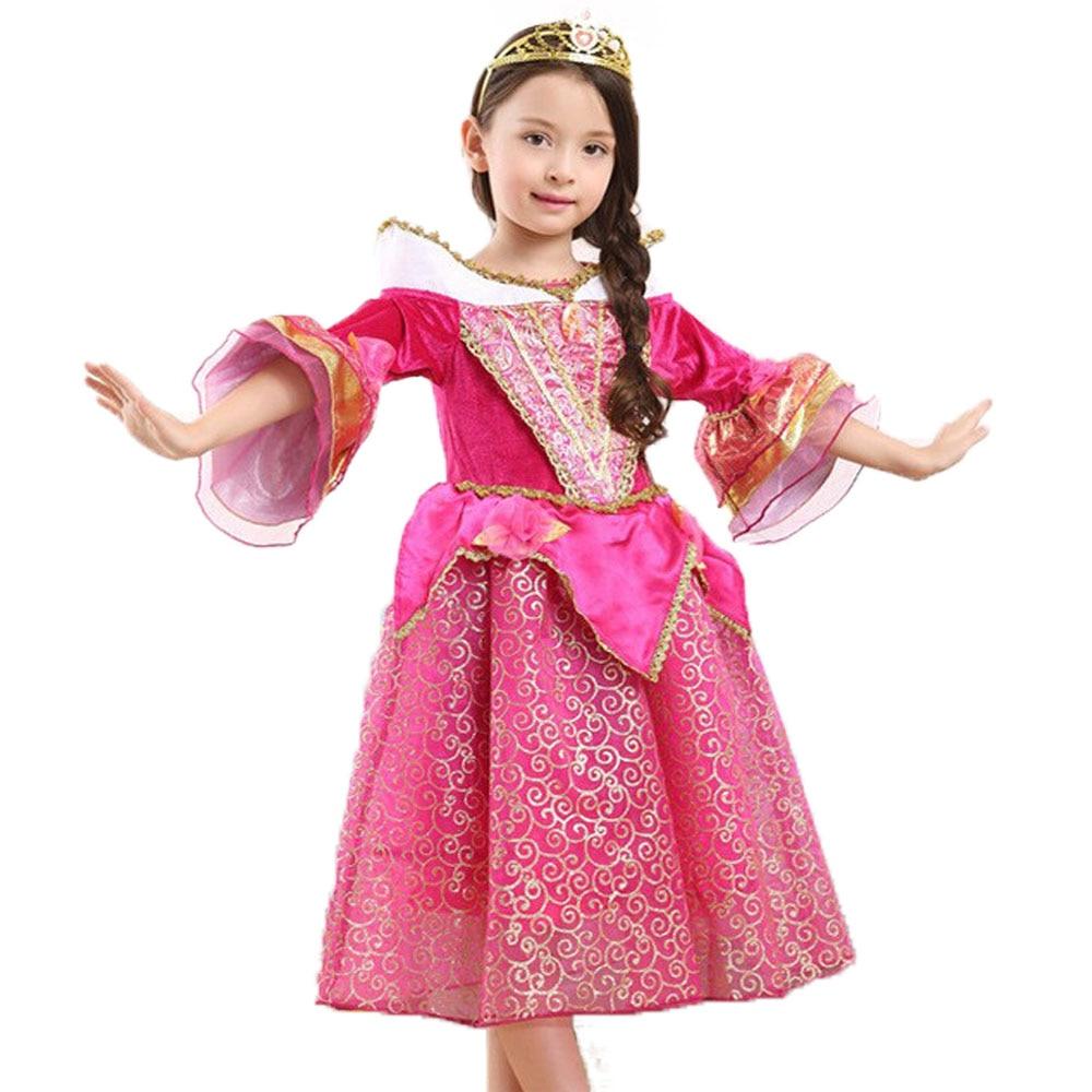 Kids Girls Princess Dresses Sleeping Beauty Aurora Belle Sofia Mermaid Girl Christmas Cartoon Cosplay Dresses Children Costume <br><br>Aliexpress