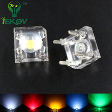 IEKOV LED 5mm Piranha Super Flux LED 20 EACH Red Green Blue White Yellow Leds kit 4 Pin Dome Wide Angle Light Lamp For Car Light
