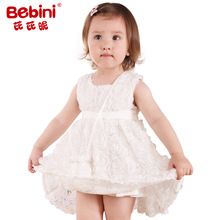 Bebini Original Top quality Toddler Girl embroidery rose Dress  Baby Girl princess  Dress  Sweet Baby Girl Rose princess Dress
