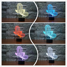 2017 Creative Animal Snake Balloon Shape 3D Lamp USB LED Illusion Night Light Colors Acrylic Children's Day Decoration Lightings