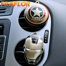 2017 New Iron Man Captain America Shield Car Outlet Perfume Original Auto Perfumes Air Freshener Car Air Conditioning Vent Clip(China)