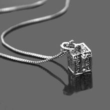 Retro Vintage Antique Silver Tone Women Open Prayer Wish Box Pendant Necklace Jewelry Lover Valentine Gift 2017 Hot