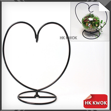 Heart Style Home Decoration Flower Plant Stand Hanging Vase Hydroponic Home Office Wedding Decor Metal Plant Holders Planter