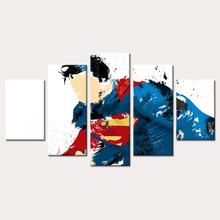 5 Piece Modular Picture HD Print Superman Comics Painting Fabric Print Room Decorated Poster Image Canvas Print the Child's Gift