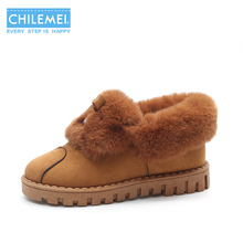 Winter Snow Boots Women Warm Soft Bottom Furry Shoes Indoor Outdoor Slip On Female Lovely Elegant New Fashion Korean(China)