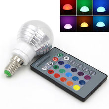 E27 E14 LED 16 Color Changing RGB Magic Light Bulb Lamp AC 85-265V 110V 120V 220V RGB Led Light Spotlight For Home Lighting