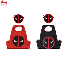SPECIAL L 27* Child deadpool cosplay costume cape mask for Birthday party dress gifts Christmas costume scared cloak game favour
