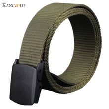 2017 Wild Belt Men Canvas Strap Male Belt Hypoallergenic Metal free Plastic Automatic Buckle Waistband Men's Belt Masculino Au9J(China)