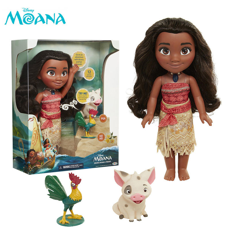 Singing Moana & Friends Action Figures Doll Light & Movie Song Kids Toy zy552(China (Mainland))