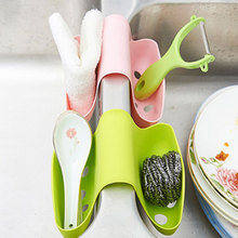 Hot Hot 2015 Sink Double Side Saddle Shape Storage Box Sponge Drainer Holder Kitchen Accessories