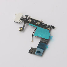 1 PC Charger Cable for Apple iPhone 5 Charging Port Dock Connector Flex Cable with Headphone Audio Jack Microphone