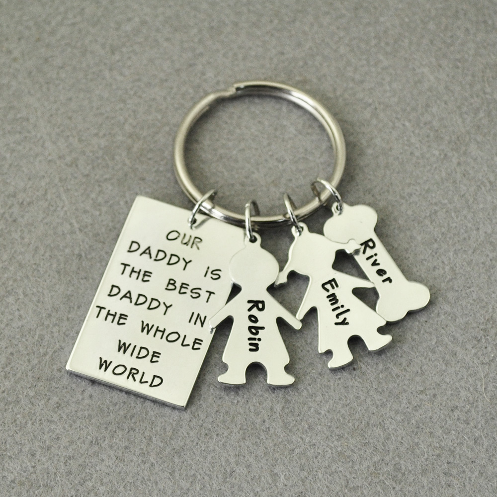 Valentine/'s Daddy Personalised LOVE YOU TO THE STARS AND BACK gift Keyring