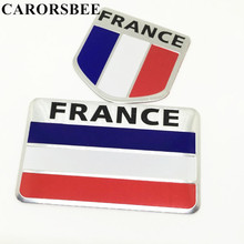 CARORSBEE Hot aluminum FRANCE National Flag Car Sticker Auto Styling motorcycle fuel tank stickers Decal motocross accessories(China)