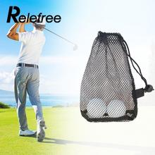 relefree Mesh Net Bag Golf Tennis 12/25/50 Balls Carrying Holder Drawstring Storage Pouch(China)